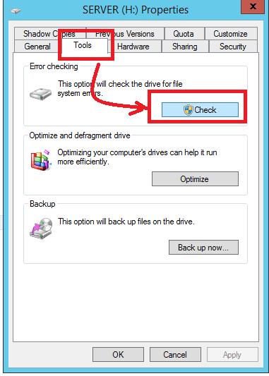 error hard disk repair