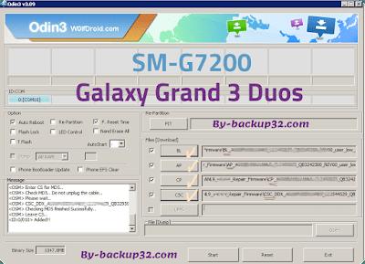 سوفت وير هاتف Galaxy Grand 3 Duos موديل SM-G7200 روم الاصلاح 4 ملفات تحميل مباشر