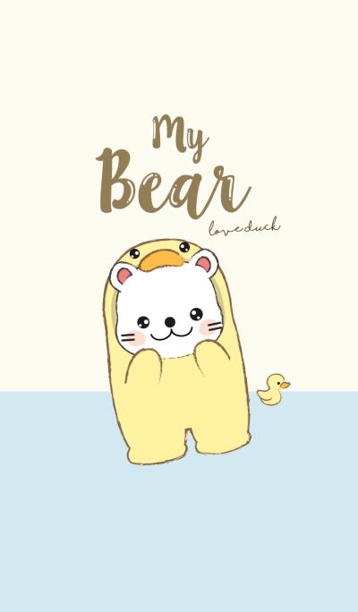 Bear love Duck. (Yellow Ver.)