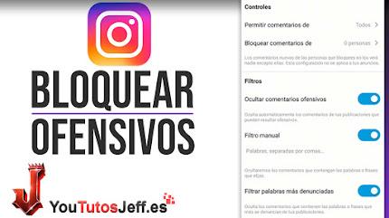 Bloquear Comentarios Ofensivos Instagram - Trucos Instagram