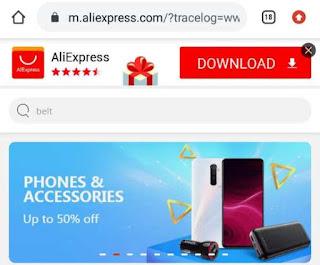 AliExpress website homepage