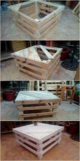 como hacer una mesa con pallets de madera