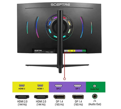 Sceptre C325B-QWD168 Curved 2K QHD Gaming Monitor
