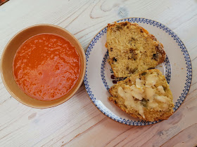 Scones and gazpacho