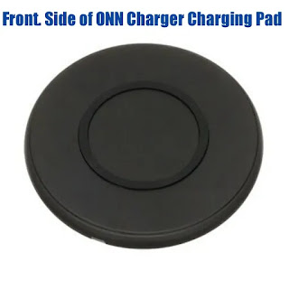 Front Side Onn Wireless Charger Charging Pad