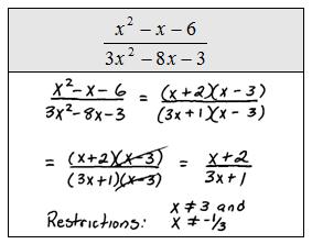 Simplifying Rational Algebraic Expressions Worksheets