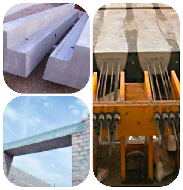 أنواع الكمرات على أساس طرق البناء
