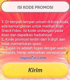 kodo iklan promosi snack video