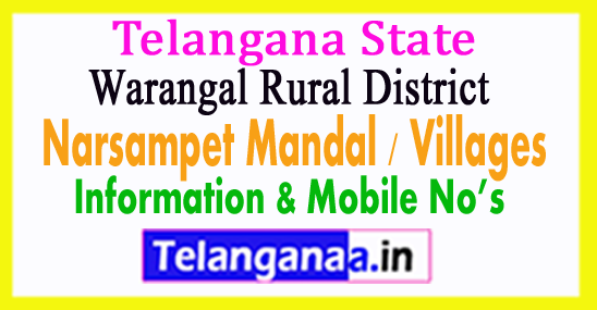 Narsampet Mandal Villages in Warangal Rural District Telangana