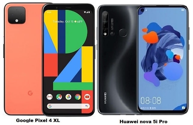 Google Pixel 4 XL Vs Huawei nova 5i Pro Specs Comparison