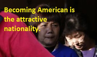 Becoming American is the attractive nationality.