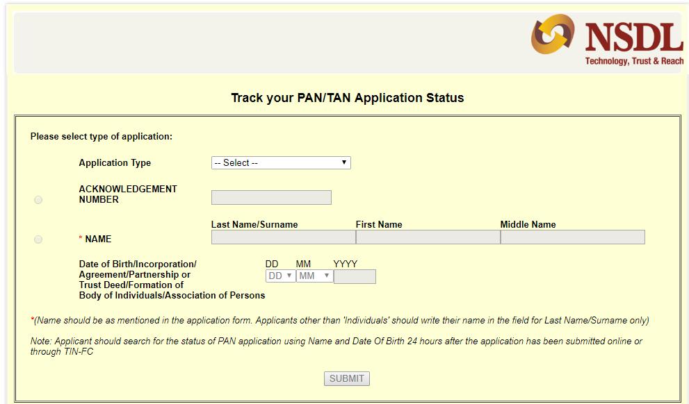 पैन कार्ड का स्टेटस कैसे चैक करें ऑनलाइन Check Pan Card