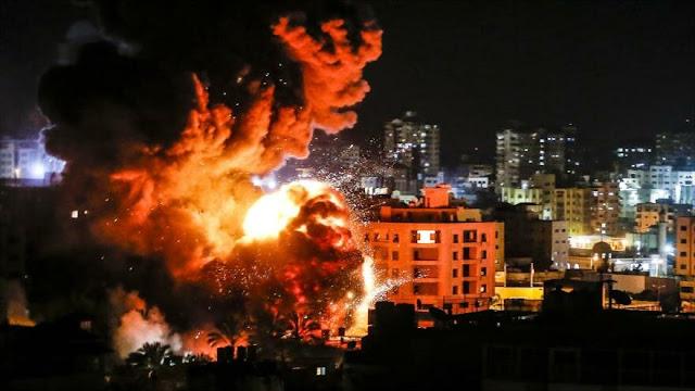 Aviones israelíes vuelven a bombardear la Franja de Gaza