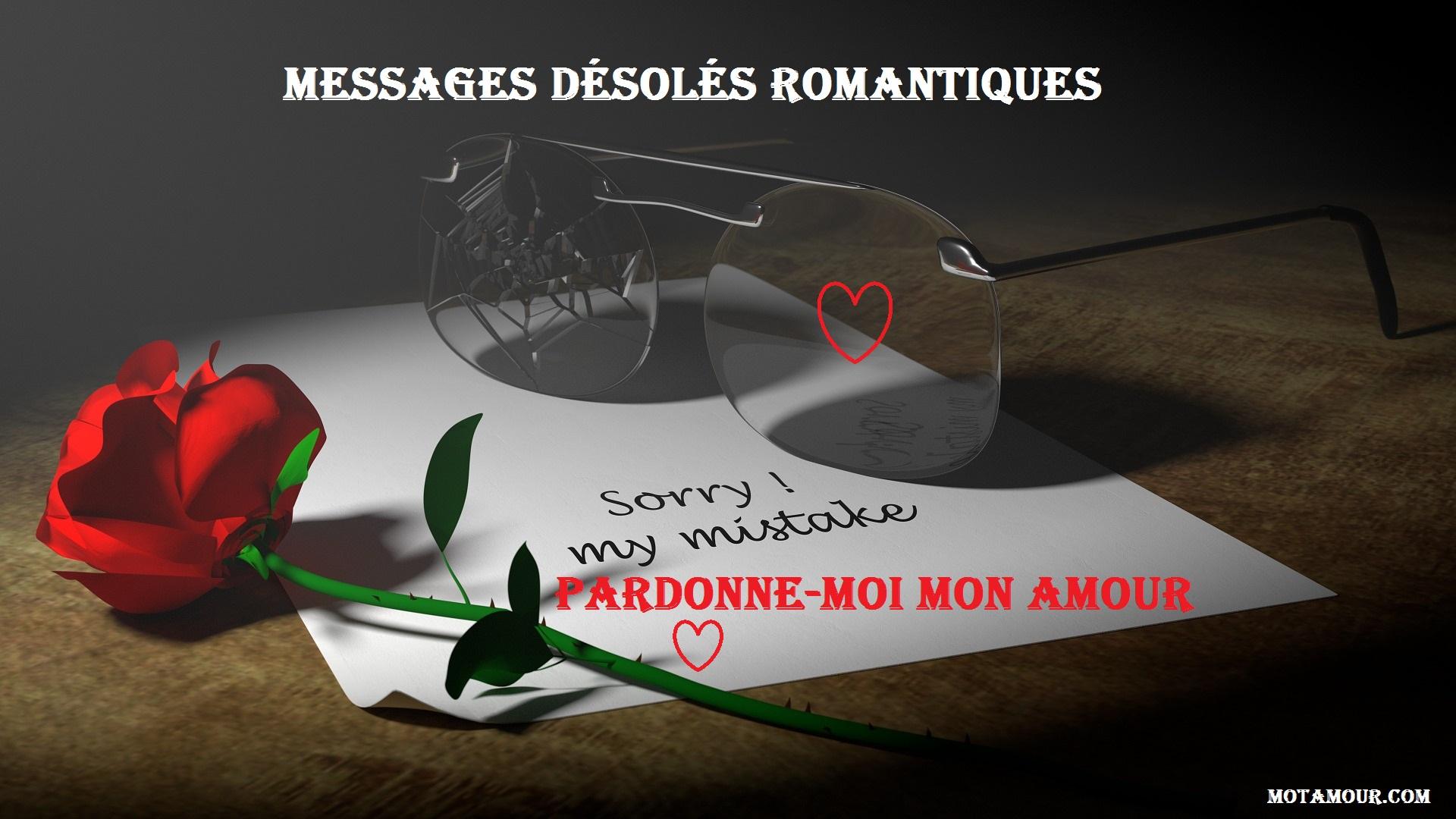 Messages désolés romantiques