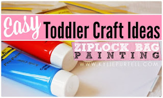 Toddler Craft Ideas: Ziplock Bag Painting