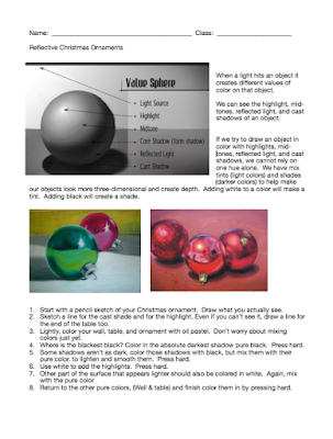 Christmas Ornament Handout & Rubric