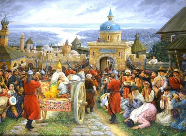 Казанская царица Сююмбике стала пленницей кровавого Ивана IV.