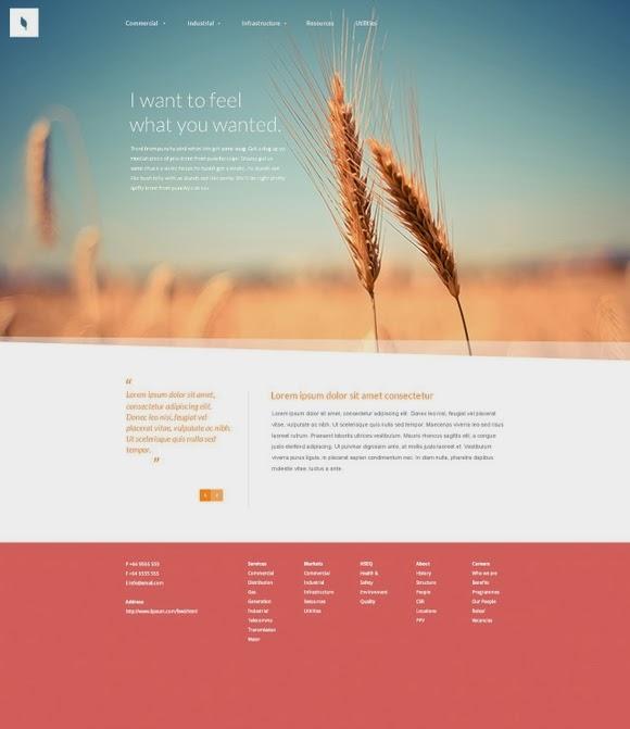 Organic – Free Website PSD Template
