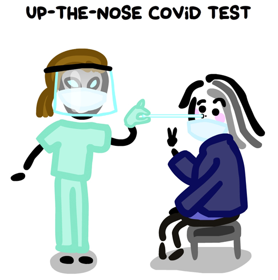 up the nose covid test is no big deal