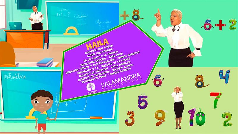 Haila - ¨Números que saltan¨ - Videoclip / Dibujo Animado - Director: Andros Barroso. Portal Del Vídeo Clip Cubano