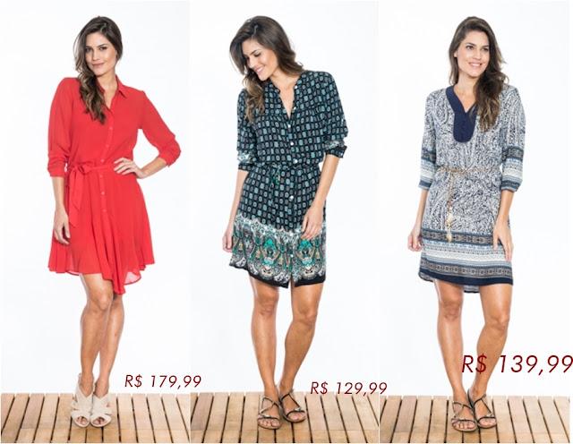 Loja que vende vestidos, calças e chemises