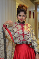 Anya South Actress model in Red Anarkali Dress at Splurge   Divalicious curtain raiser ~ Exclusive Celebrities Galleries 029.JPG
