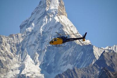 passeios de helicóptero no Acampamento Base do Everest