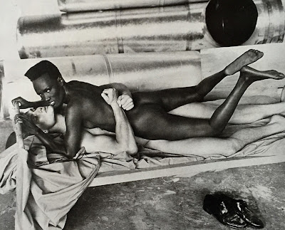 Grace Jones Playboy 1985 by Helmut Newton
