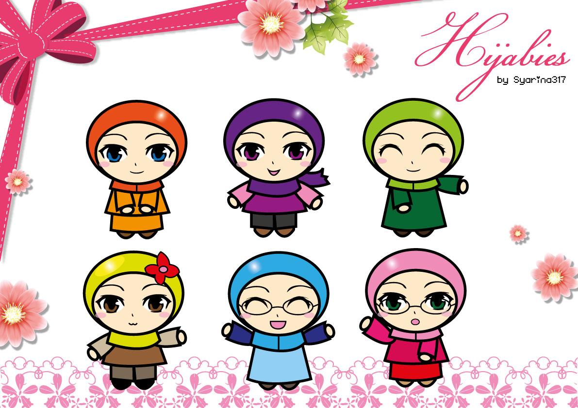 Gambar Kartun Anak Muslim Vector Medsos Kini