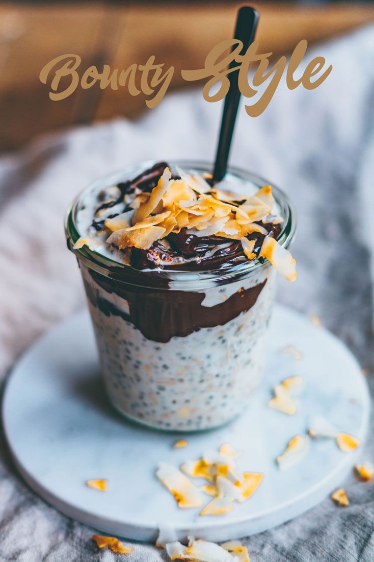 Bounty Style Overnight Oats. Need more recipes? Find 21 Easy and Healthy Vegan Oat RecipesTo Make Best Weight Loss Breakfast Ever! health oatmeal recipes | warm oatmeal recipes | oatmeal breakfast | breakfast oatmeal | overnights oatmeal #oats #oat #veganmeal #vegan