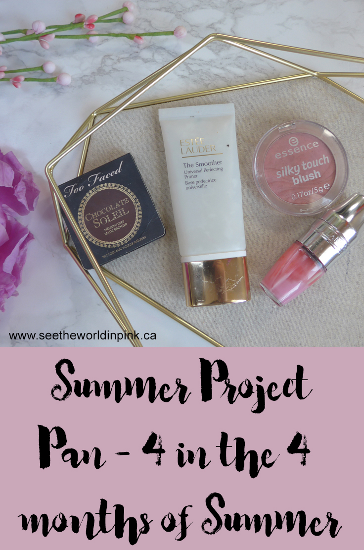 Summer Project Pan - Use Up 4 Makeup Products in the 4 Months of Summer!