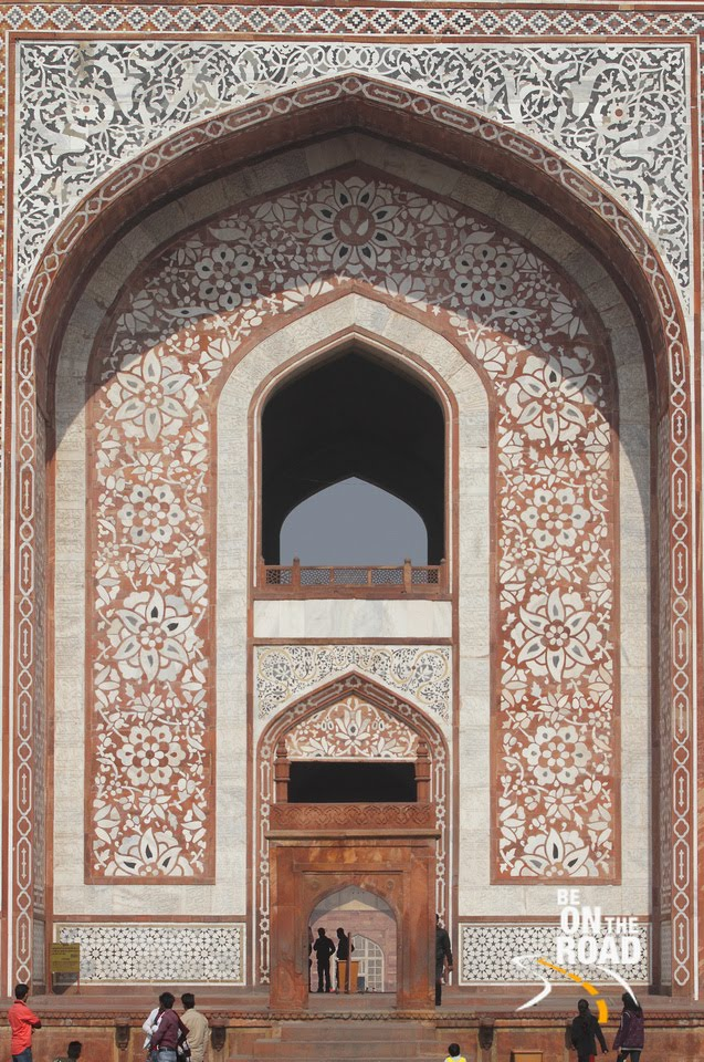 Entrance to Akbar's Tomb at Sikandra, Agra, India
