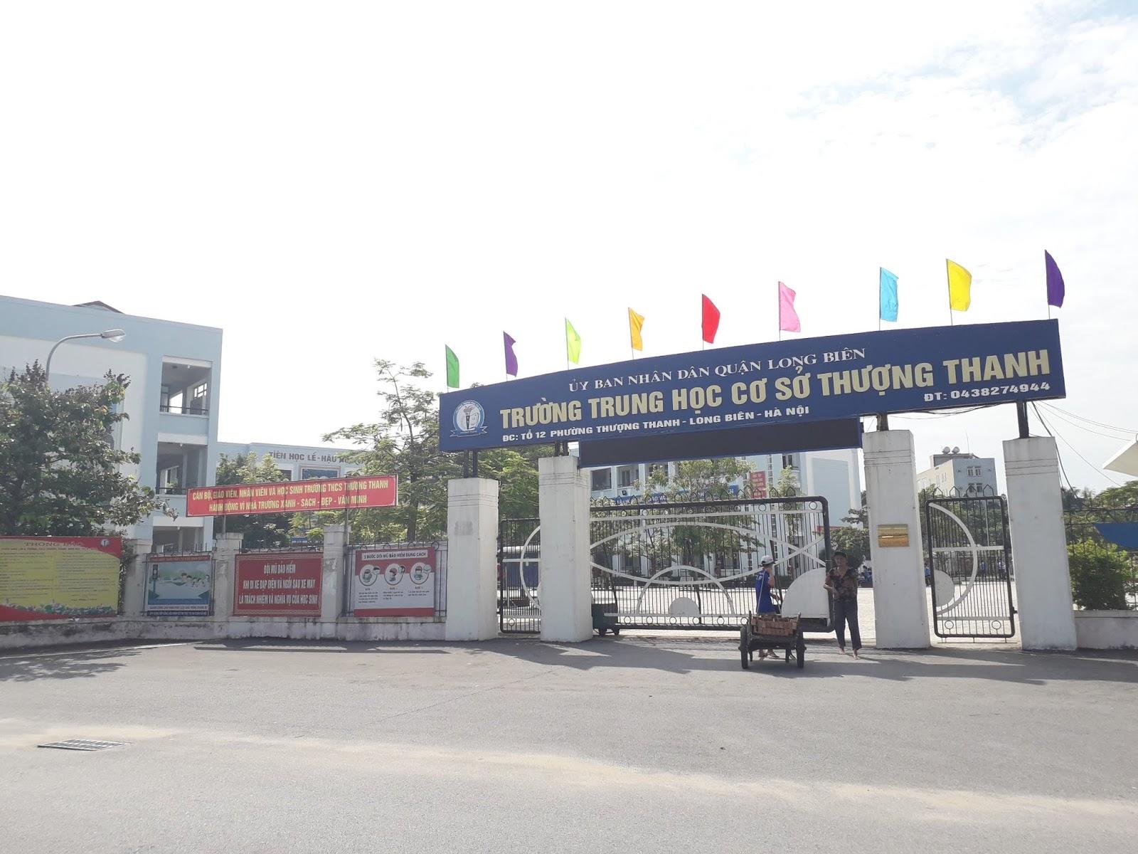 Trường THCS Thượng Thanh.
