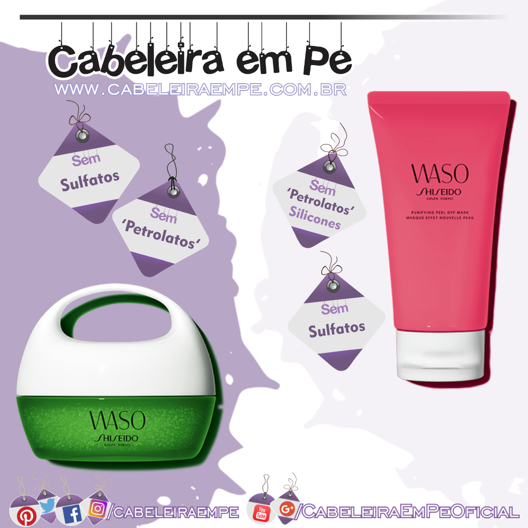 Waso Beauty Sleeping Mask e Waso Purifying Peel Off Mask - Shiseido