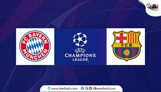 مباراة بايرن ميونيخ و برشلونة بث مباشر اليوم
