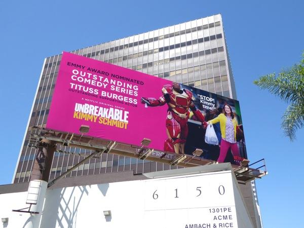 Unbreakable Kimmy Schmidt 2015 Emmy billboard