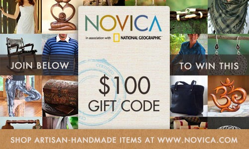 $100 Novica Gift Card Giveaway