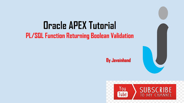 PL/SQL Function Returning Boolean Validation in Oracle APEX