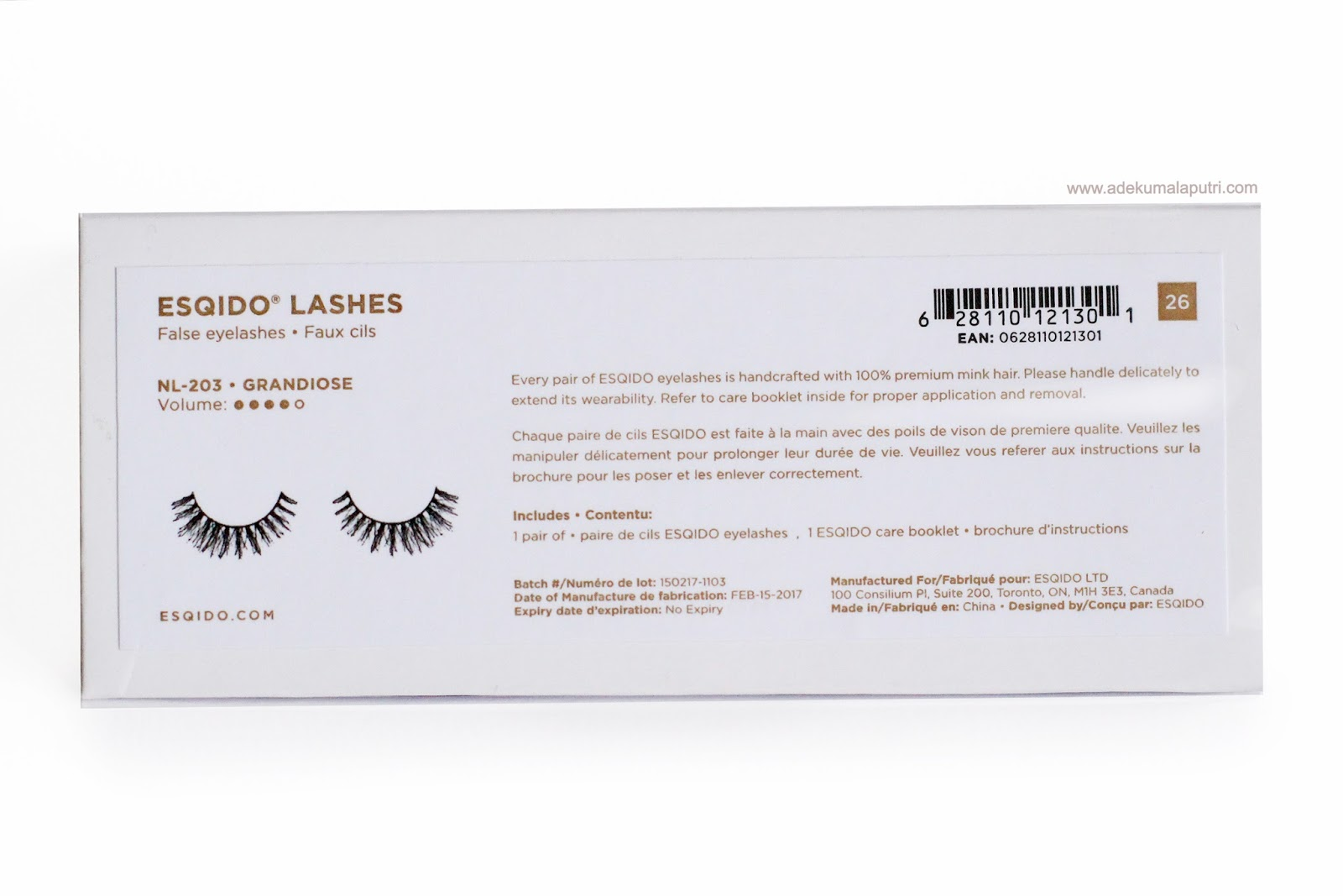 ed197d7d48f As you guys can see, each pair of Esqido lashes comes in a reusable white  and rose gold box.