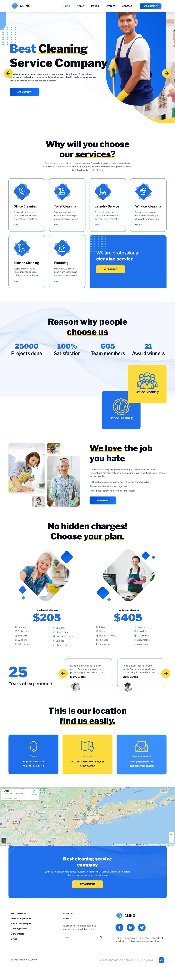 Cleaning Company HubSpot Theme