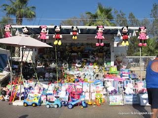 Toy stall at Kataklysmos 2019, Larnaka, Cyprus