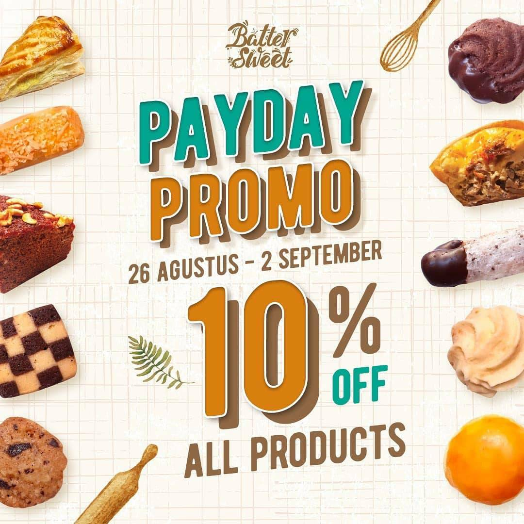 Promo Batter Sweet Pastry Payday Discount Up To 10% All Product*