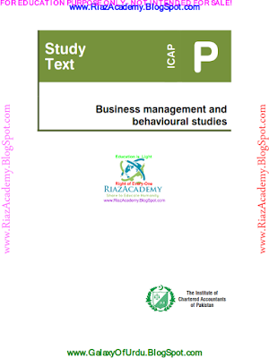 CAF-04 - Business management and behavioural studies 2013- Study Text