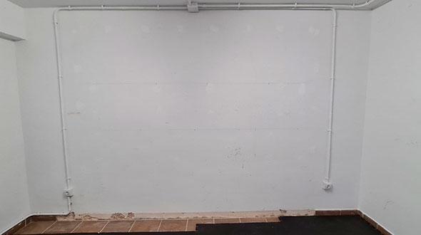 muro blanco