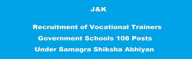 J&K Vocational Trainers