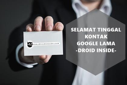 Selamat tinggal kontak google lama