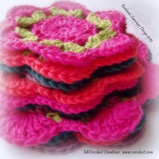crochet coasters doilys pink green orange purple