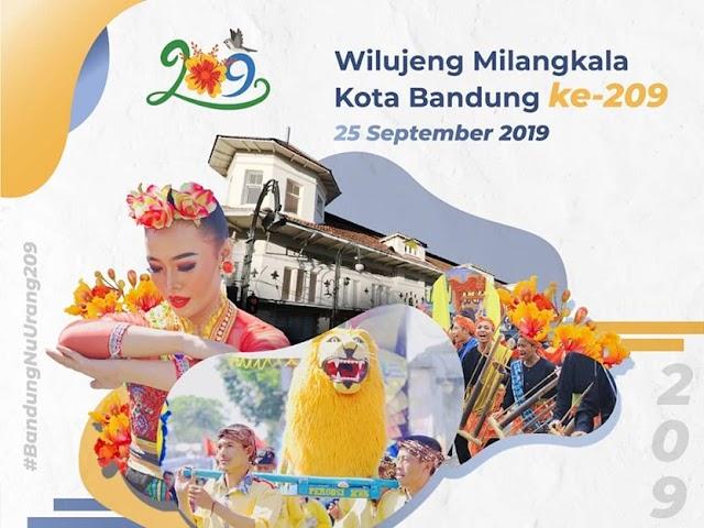 Inilah Rangkaian Acara Hari Jadi  ke-209 Kota Bandung Tahun 2019
