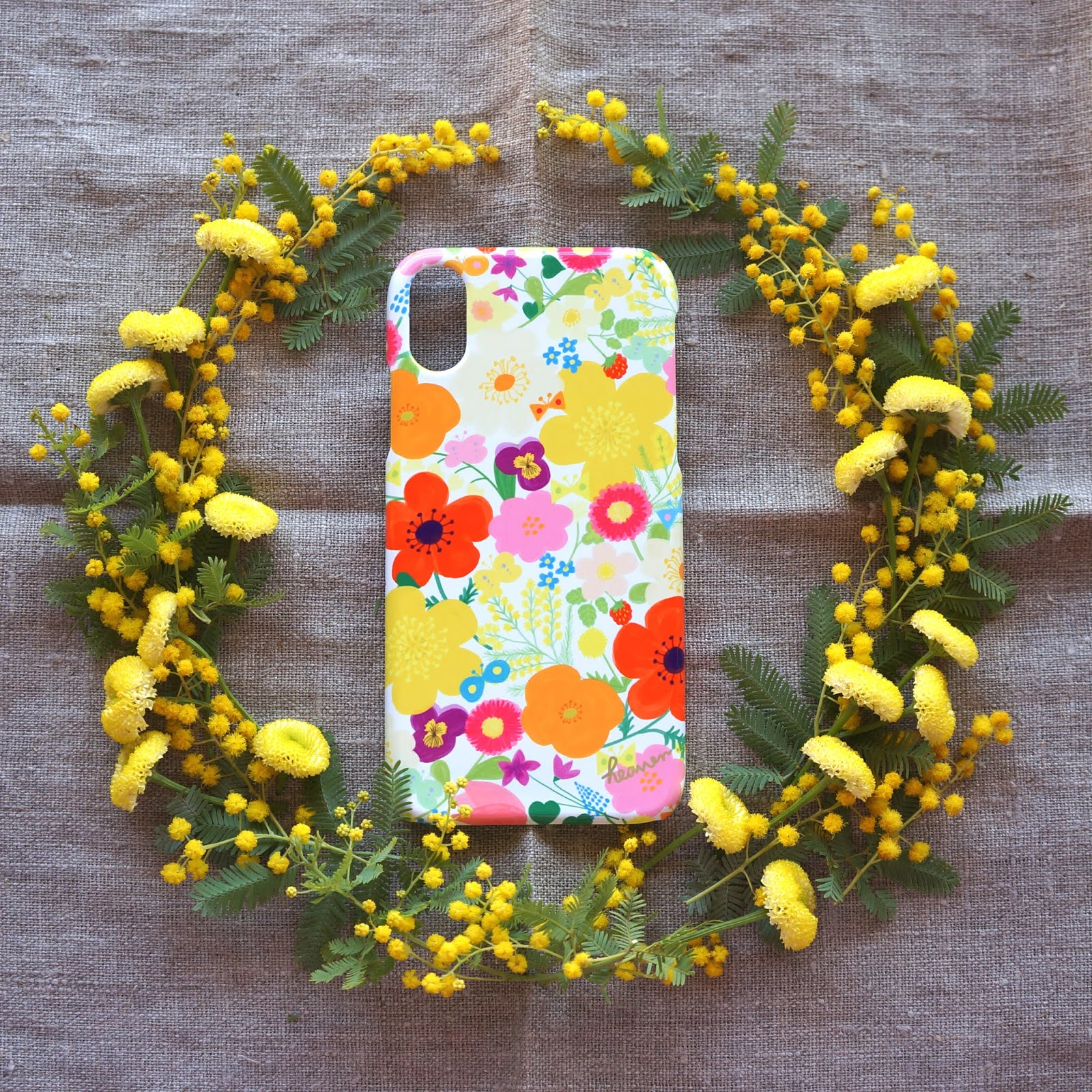 新作スマホケース「happy garden」5色出来上がりました☆彡