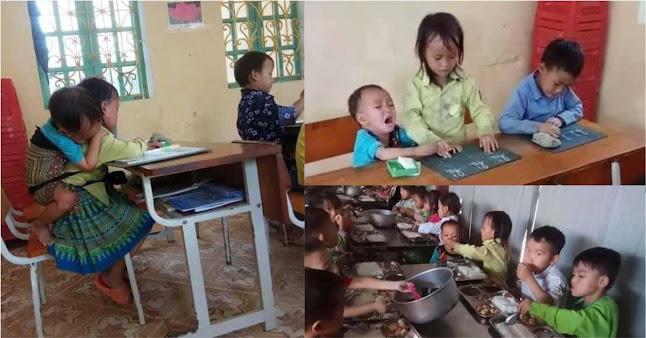 Sự thật đau xót xa chị 7 tuổi địu em 20 tháng đến lớp, chăm sóc em thay bố mẹ...